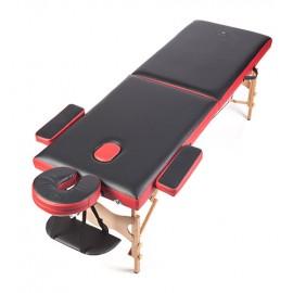 Двухсекционный деревянный массажный стол W-2-13