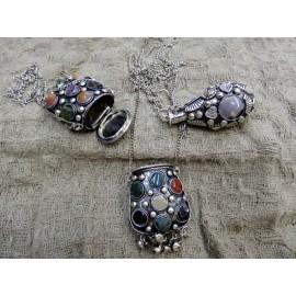 Аромакулон металл+камень 5см Индия