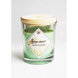 Ароматическая свеча с маслом бергамота 9 см, 200 г, 30 ч