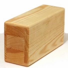Кирпич для йоги деревянный полый (Супер легкий)