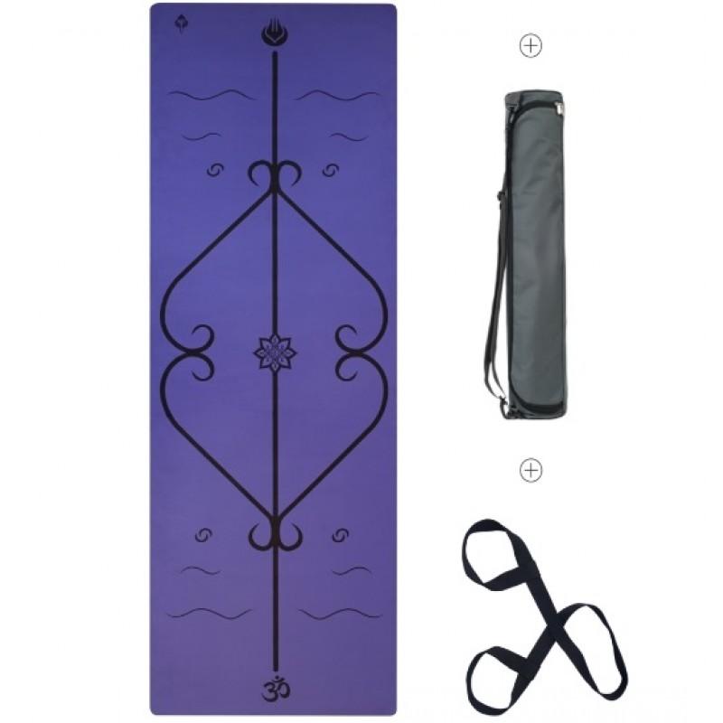 Мат для йоги Lepomate fiber yoga mat фиолетовый