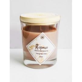 Ароматическая свеча с маслом корицы 9 см, 200 г, 30 ч